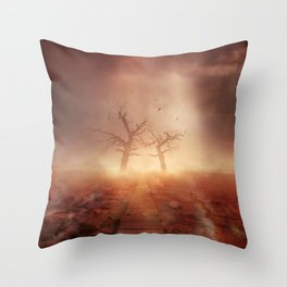 The path of the dead Throw Pillow