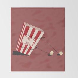 end of popcorn dictatorship Throw Blanket