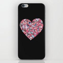Geometric Patterned Heart  iPhone Skin
