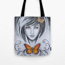 'ORANGE BUTTERFLY' - Ruth Priest Tote Bag