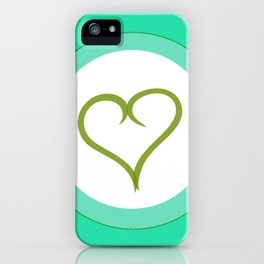 Green Heart with Love iPhone Case