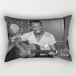 Cuban Guitarist Rectangular Pillow