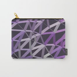 3D Futuristic GEO Lines V Carry-All Pouch