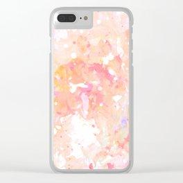 Peach Bubble Gum Clear iPhone Case