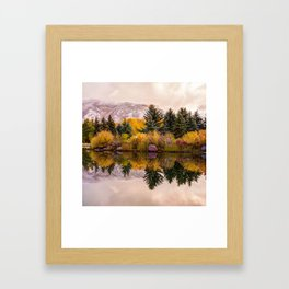 Perfect Reflections - Aspen Colorado Mountain Art Framed Art Print