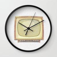 tv Wall Clocks featuring Television* by Mr and Mrs Quirynen