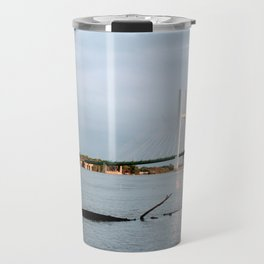 Mississippi River at Burlington, Iowa Travel Mug
