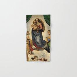 The Sistine Madonna Oil Painting by Raphael Hand & Bath Towel