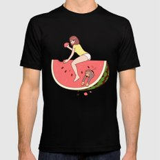 Watermelon Mens Fitted Tee MEDIUM Black