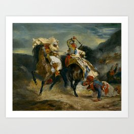 """Eugène Delacroix """"The Combat of the Giaour and Hassan"""" Art Print"""