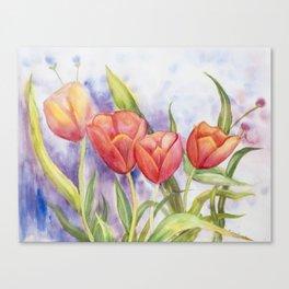 Diane L - Les tulipes Canvas Print