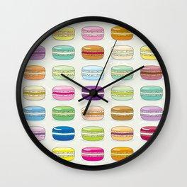 Colorful macaroon set Wall Clock
