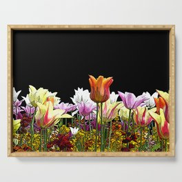 Tulips (black background) Serving Tray