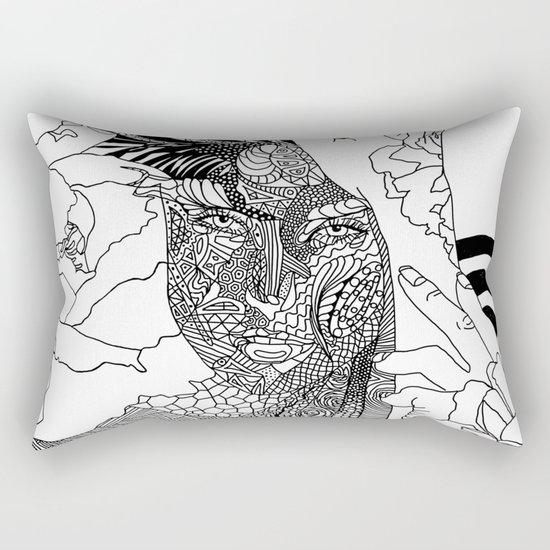 Inked Parisian Rectangular Pillow