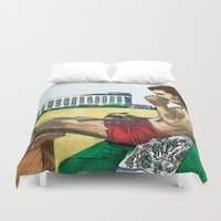 hunter s thompson Duvet Covers featuring Hunter S. Thompson, The Rum Diary by Abominable Ink by Fazooli