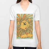 the lion king V-neck T-shirts featuring Lion King by coconuttowers
