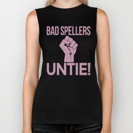 BAD SPELLERS UNTIE! (Purple) Biker Tank