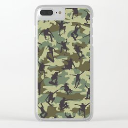 Skater Camo WOODLAND Clear iPhone Case