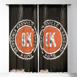 Graysonia Nashville & Ashdown Railroad OK Route Okay Arkansas Cement Railway Steam Train Emblem Blackout Curtain