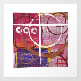 Lines, Circles And Squares, OH MY! 2 Top Square Art Print