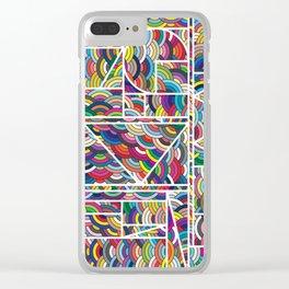 Kaku Technicolor Clear iPhone Case