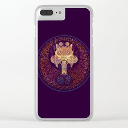 Owl Mandala Clear iPhone Case