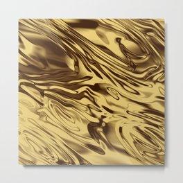 Gold Silk Metal Print