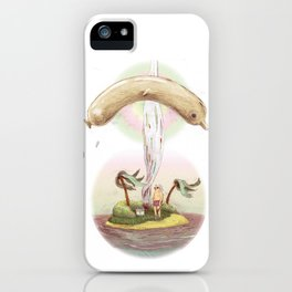 Flying dolphin  iPhone Case