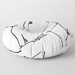 Nude drawing Floor Pillow