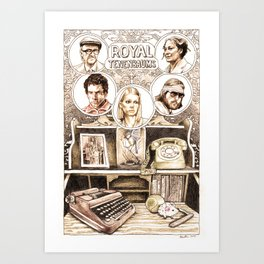The Royal Tenenbaums by Aaron Bir Art Print