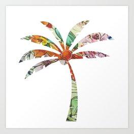 Palm Tree Fabric Art Print