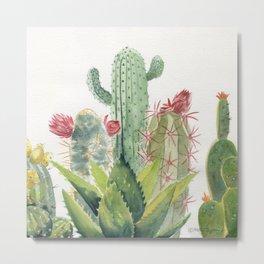 Cactus Watercolor Metal Print