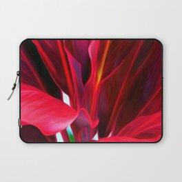 Red Ti Leaf Laptop Sleeve