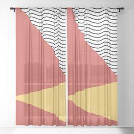 Eighties pop pattern Sheer Curtain
