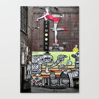 acdc Canvas Prints featuring ACDC Lane by Kate Karsten