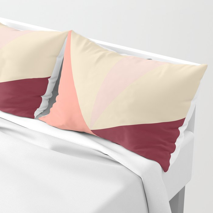 Tetrachromatic in red Pillow Sham