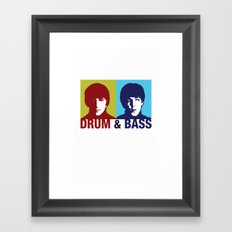 The Fab Four Drum and Bass Framed Art Print