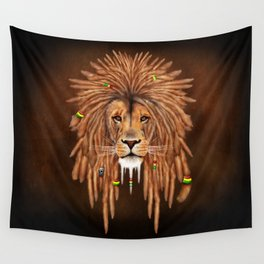 Dreadlock Lion Wall Tapestry