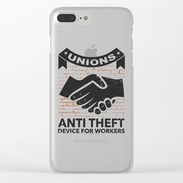 Labor Union of America Pro Union Worker Protest Light Clear iPhone Case