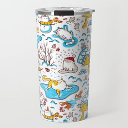 Winter Cats Travel Mug