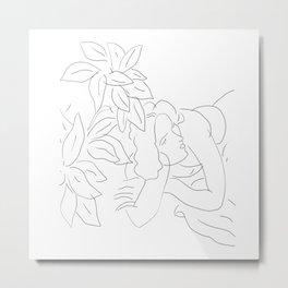 Matisse Line Art #5 Metal Print