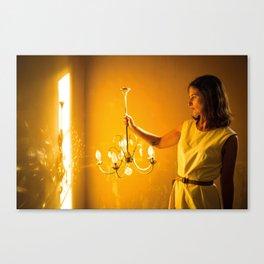 Le mystere de la chambre jaune Canvas Print