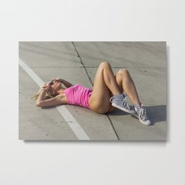 summer fitness girl Metal Print
