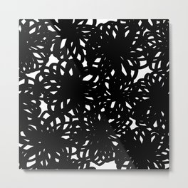 Bold Scribble Floral Metal Print