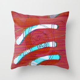 Set Me Free #glitch #art Throw Pillow