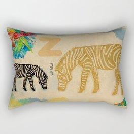 English alphabet, Zebra Rectangular Pillow