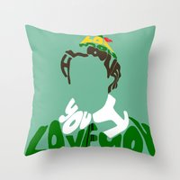 elf Throw Pillows featuring elf by pokegirl93
