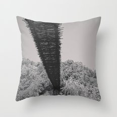 Monkey Sanctuary - Underside of bridge Throw Pillow