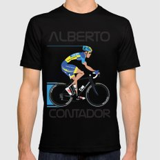 Alberto Contador LARGE Mens Fitted Tee Black