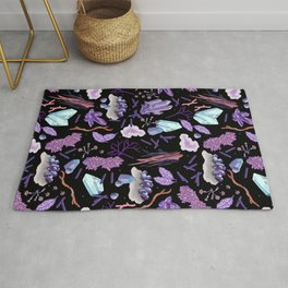 Crystals and stones Rug